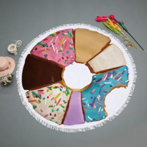 круглое пляжное полотенце конфета