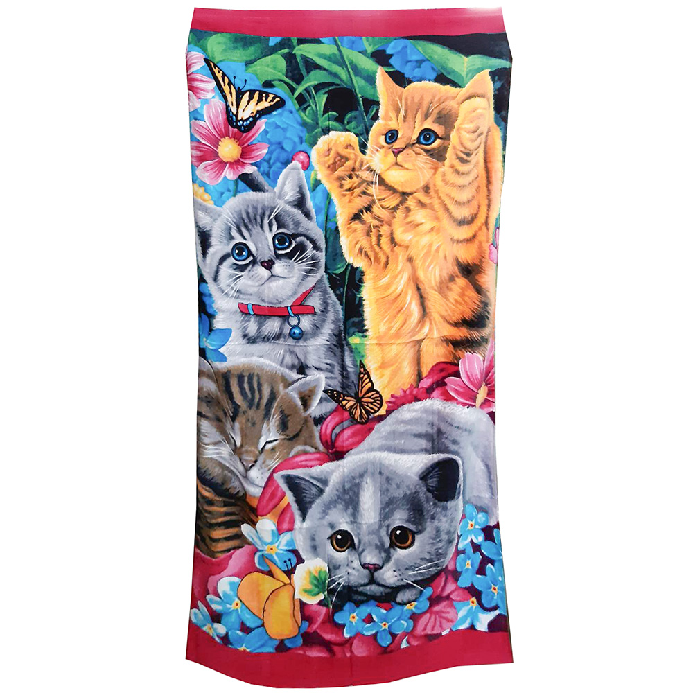 пляжное полотенце с котятами