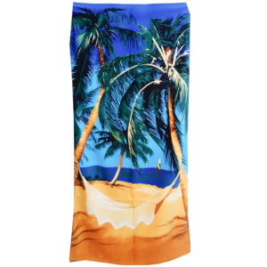 пляжное полотенце с пальмами